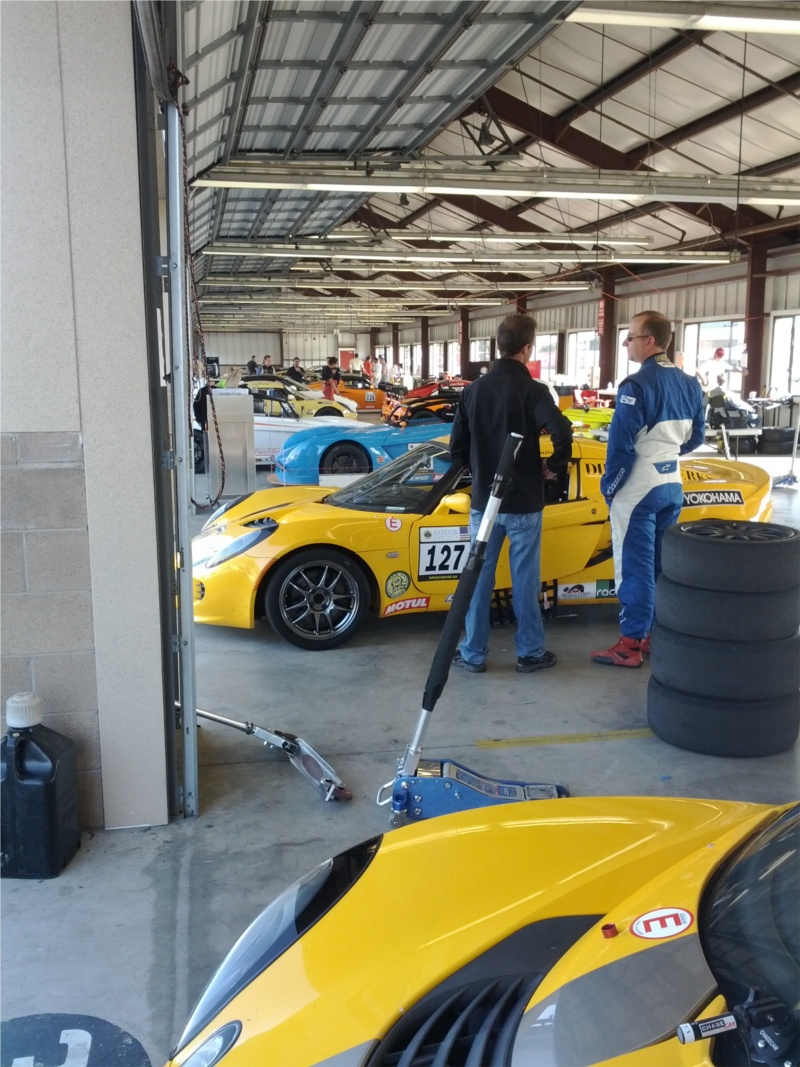 Lotuses in garage at Infineon