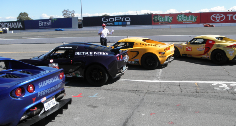 Picture of Exige lining up for race