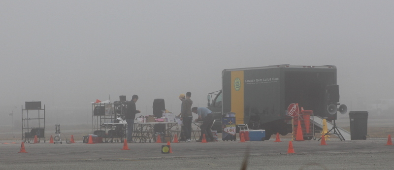 Setting up in the fog