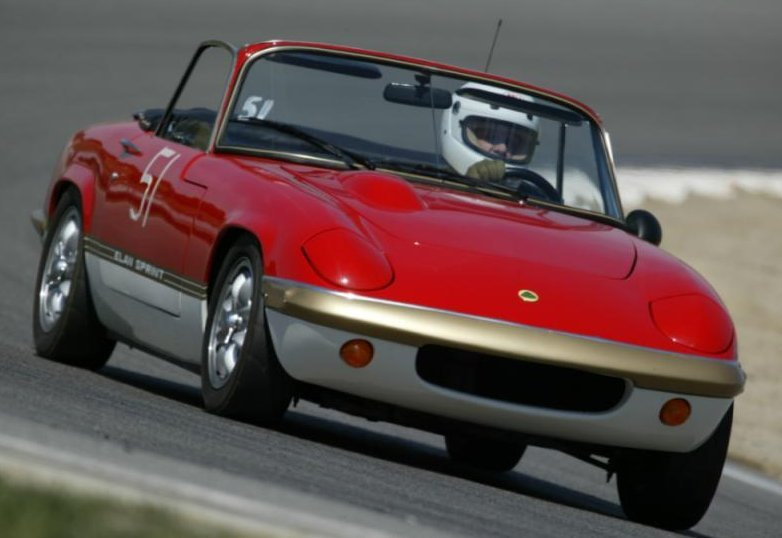 Picture of Lotus Elan on Laguna Seca Race Track