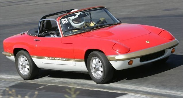 Lotus Elan on race track in 2005